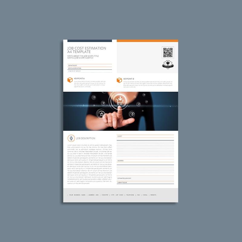 Job Cost Estimation A4 Template