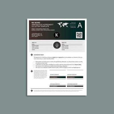 MS Word Arbitration Agreement US Letter Template