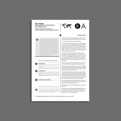 MS Word Exclusivity Contract A4 Template