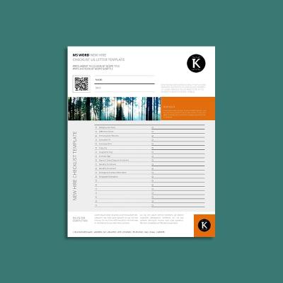 MS Word New Hire Checklist US Letter Template