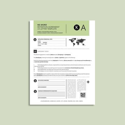 MS Word Retention Agreement US Letter Template