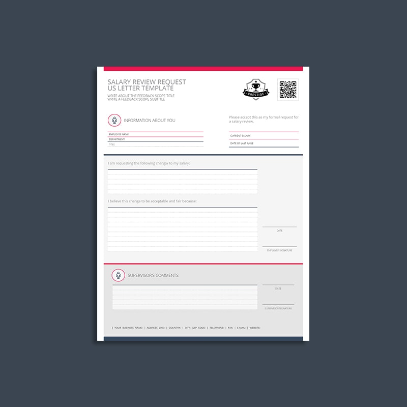 Salary Review Request US Letter Template