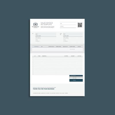 Sales Invoice A4 Template