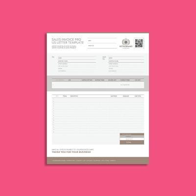 Sales Invoice Pro US Letter Template