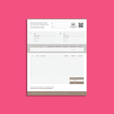 Sales Invoice Pro US Letter Template