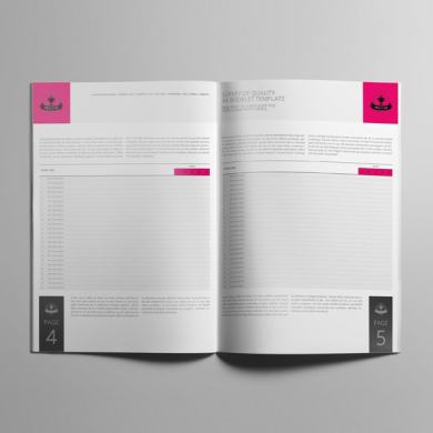 Survey of Quality A4 Booklet Template – kfea 4-min