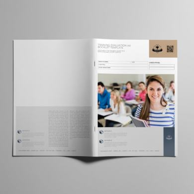 Training Evaluation A4 Booklet Template – kfea 1-min