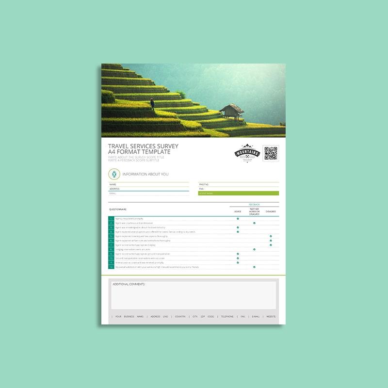 Travel Services Survey A4 Template