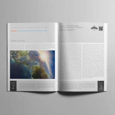 Travel Services Survey US Letter Booklet Template – kfea 4-min