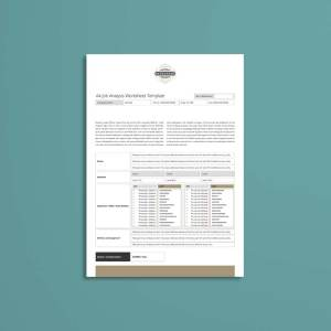 A4 Job Analysis Worksheet Template