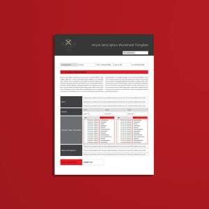 A4 Job Description Worksheet Template