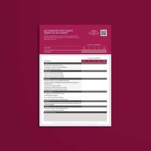 Accommodation Survey Template A4 Format