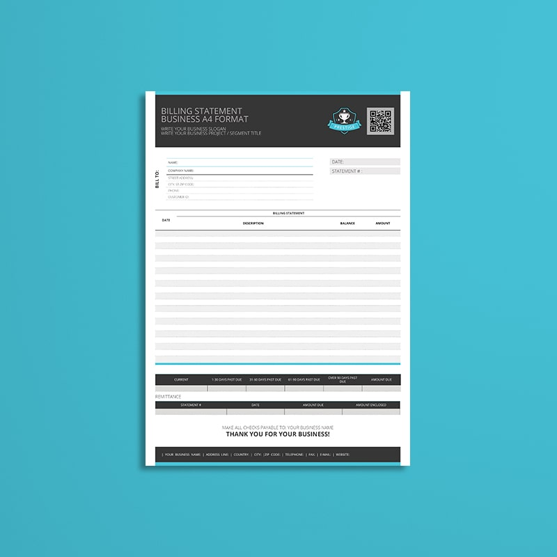 Billing Statement Business A4 Format