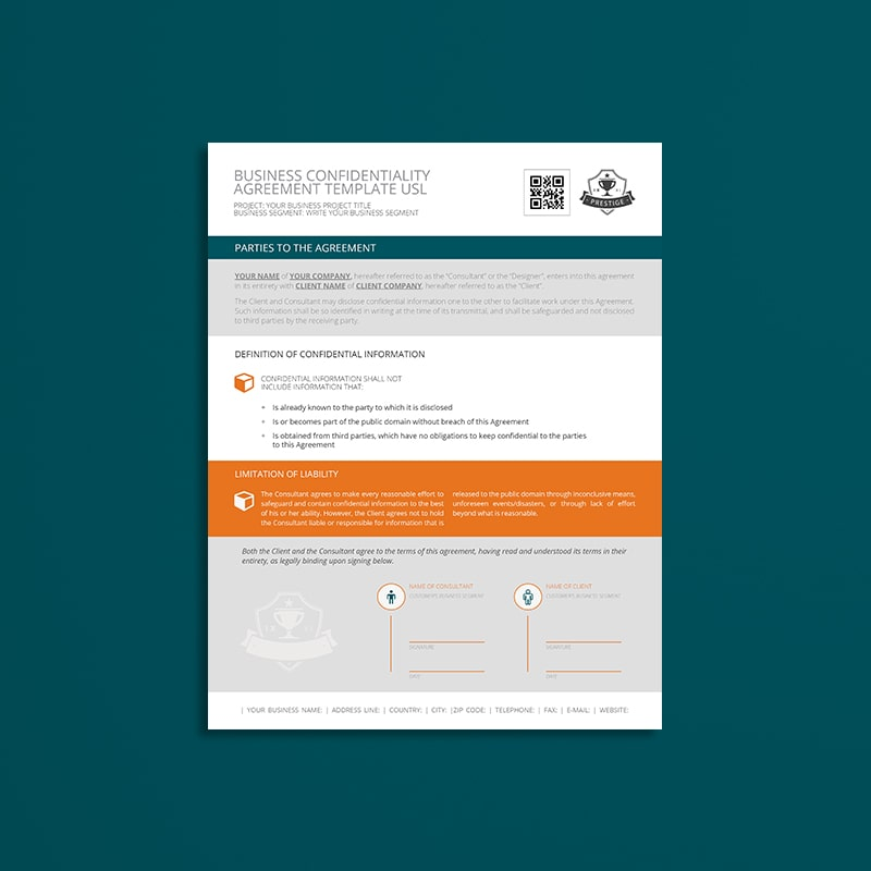 Business Confidentiality Agreement Template USL