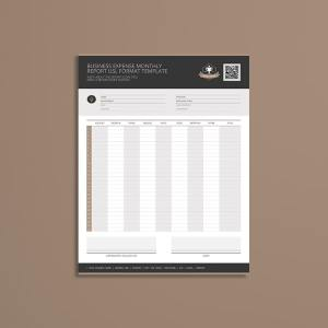 Business Expense Monthly Report USL Format Template