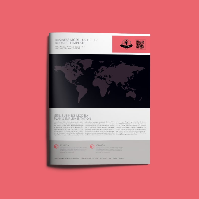 Business Model US Letter Booklet Template