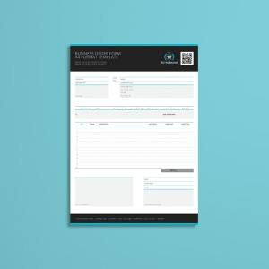 Business Order Form A4 Format Template