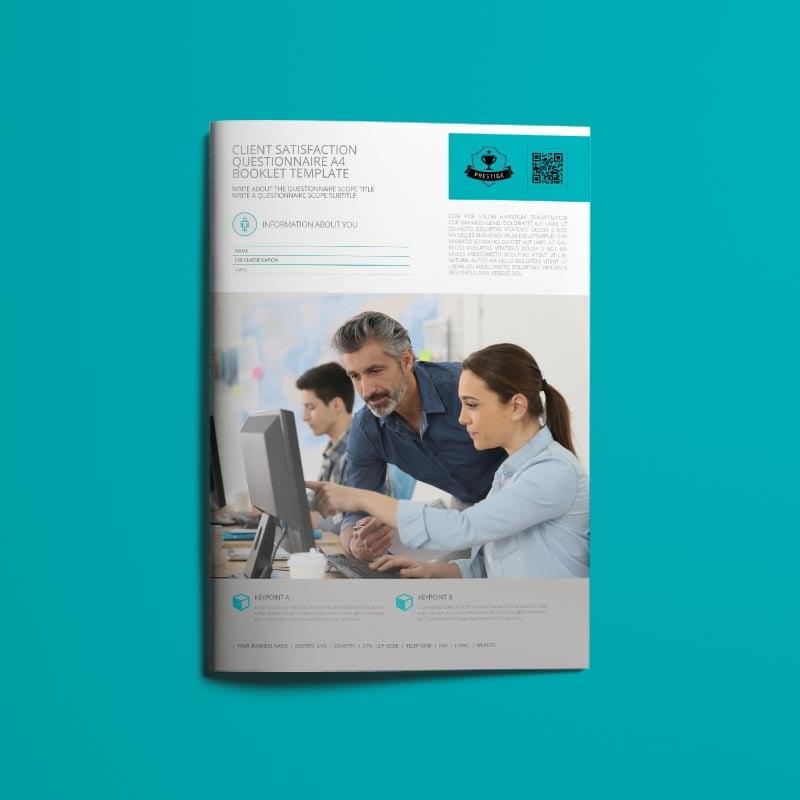 Client Satisfaction Questionnaire A4 Booklet Template