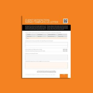 Client Satisfaction Survey Template US Letter