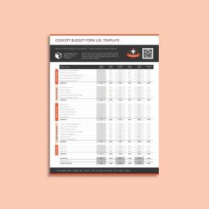 Concept Budget Form USL Template
