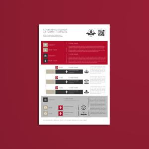 Conference Agenda A4 Format Template