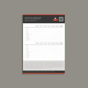 Corporate Competition Analysis A4 Worksheet