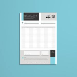 Daily Expense Report A4 Format Template