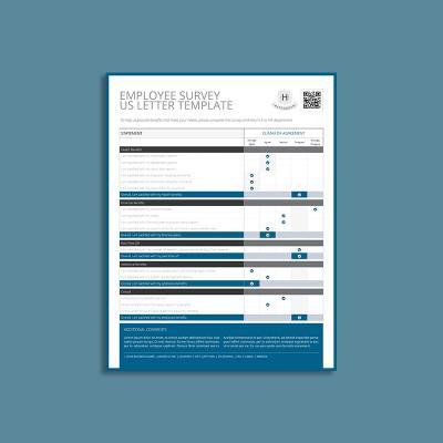 Employee Survey US Letter Template