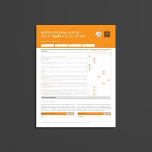 Interview Evaluation Form Template US Letter