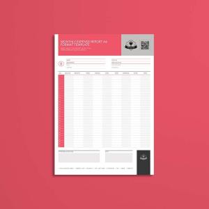 Monthly Expense Report A4 Format Template