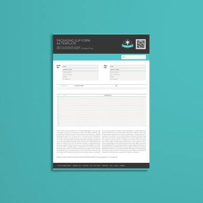 Packaging Slip Form A4 Template