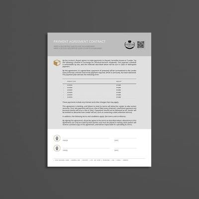 Payment Agreement Contract USL Format Template