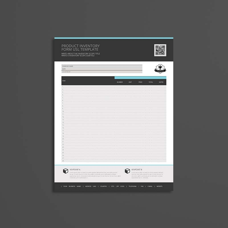 Product Inventory Form USL Template