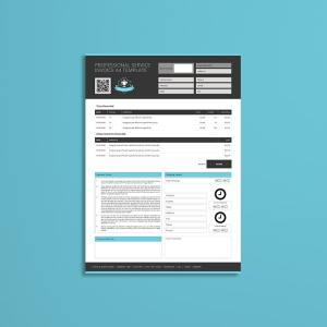 Professional Service Invoice A4 Template