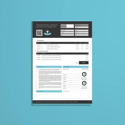 Professional Service Invoice A4 Template