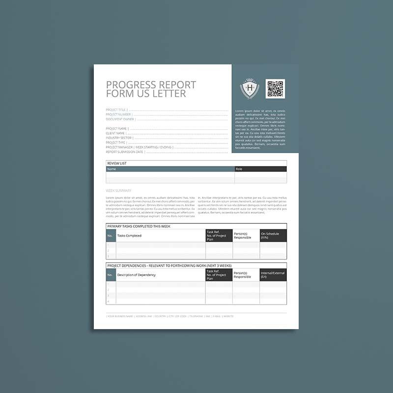 Progress Report Form US Letter