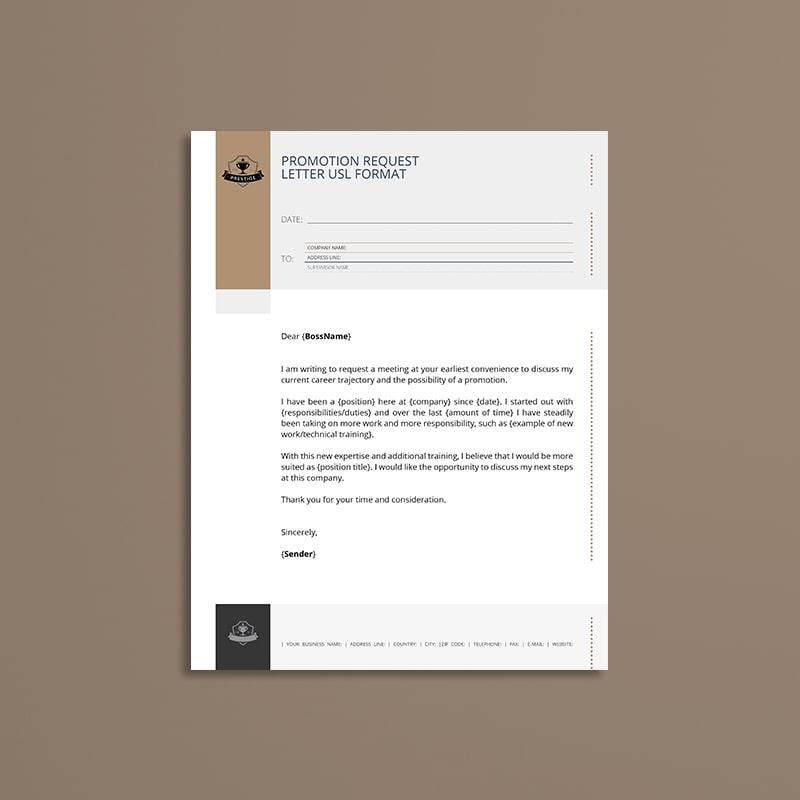 Promotion Request Letter USL Format