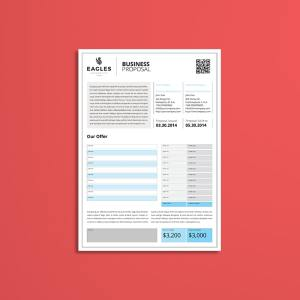 Proposal Single Page A4 Template