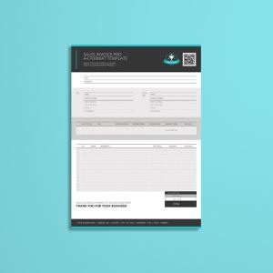 Sales Invoice Pro A4 Format Template