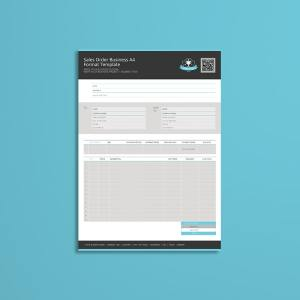 Sales Order Business A4 Format Template