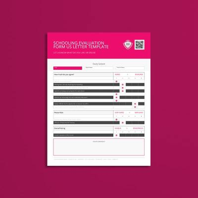 Schooling Evaluation Form US Letter Template