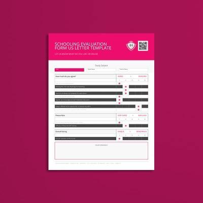 Schooling Evaluation Form US Letter Template
