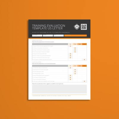 Training Evaluation Template US Letter