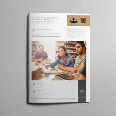 Billable Rates Worksheet A4 Booklet – kfea 1-min