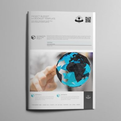 Project Budget A4 Booklet Template – kfea 1-min