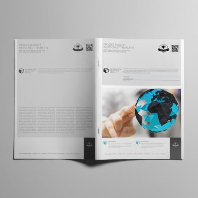 Project Budget A4 Booklet Template – kfea 2-min