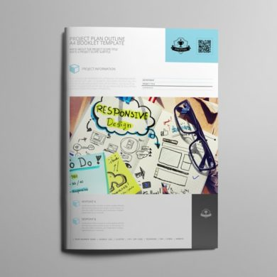 Project Plan Outline A4 Booklet Template – kfea 4-min