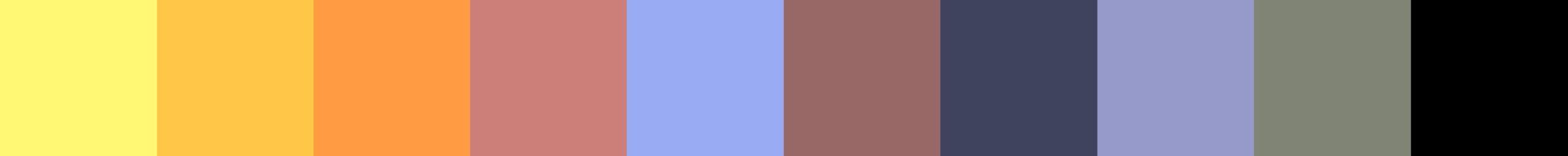 131 Heliova Color Palette