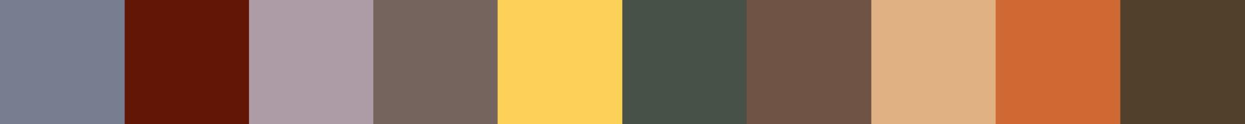 160 Ygepoo Color Palette