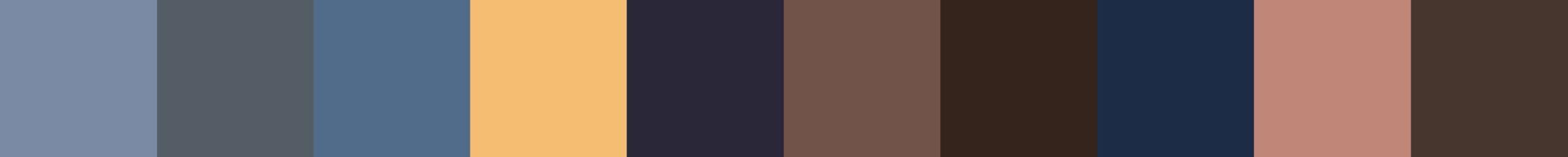 739 Gorgocona Color Palette